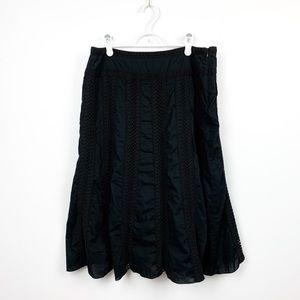 Vintage Tabi Mid Length Black Skirt